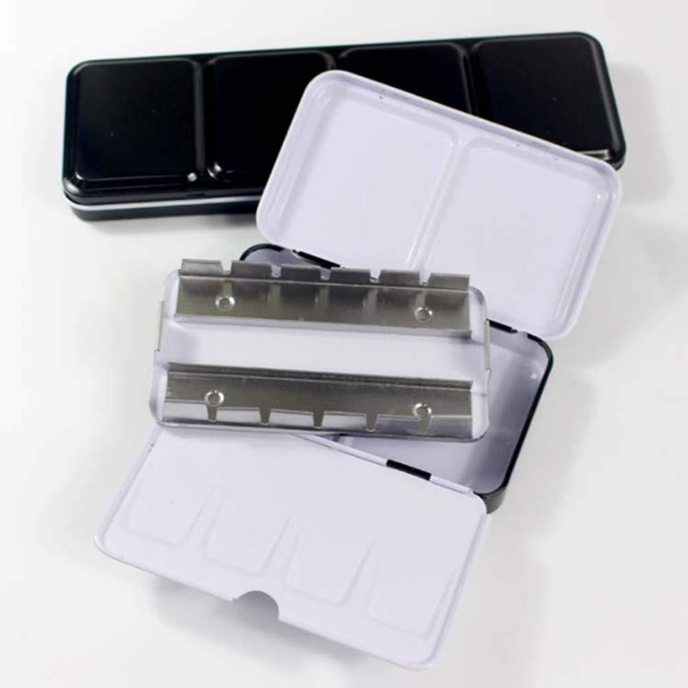 SUPVOX - Caja para acuarelas vacía, caja de metal, caja de acuarela, caja con 12 sartenes: Amazon.es: Hogar