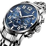 SHOUTAOB Reloj mecánico automático luminoso para hombre, marca de lujo, impermeable, acero inoxidable, reloj masculino, Relogio Masculino RZTZDM (color: azul)
