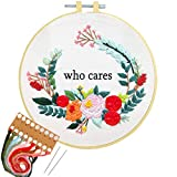 Nuberlic Embroidery Starter Kit Cross Stitch Kit for Adults Beginner Printed Stamped Pattern...