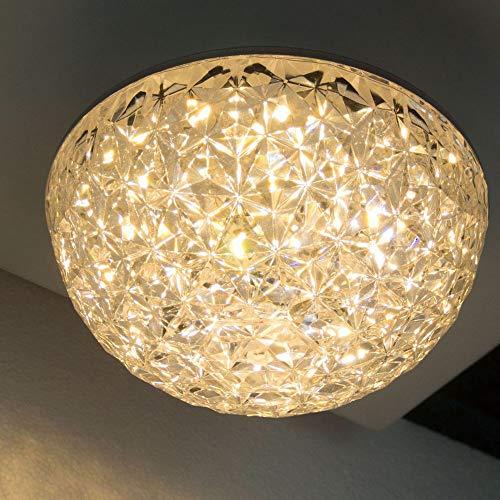 Plafoniera a LED, Ø 16 cm, 14 W, 3000 K, lampada da soffitto, rotonda, design classico, forma semisferica, elegante e semplice, diffusore in vitro opal.