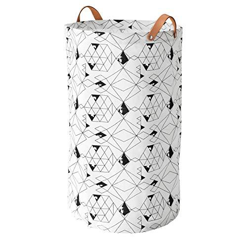 Ikea PLUMSA Wäschesack in weiß/schwarz; (60l)