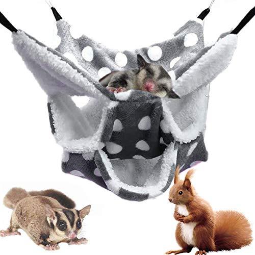 NALCY Hamaca Pequeña para Mascotas, Hamster Hamaca de Triple Capa, Hamaca Pequeña para Mascotas, Doble Capa, Jaula para Hámster Accesorios, para Chinchilla Loro o Azúcar, Deslizador, Hurones, Rata