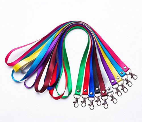 Leisial™ 5 Stücke Polyester Schlüsselband Mit Metallschnalle für Namensschilder 1.5CM Farbe Zufällig (#1)