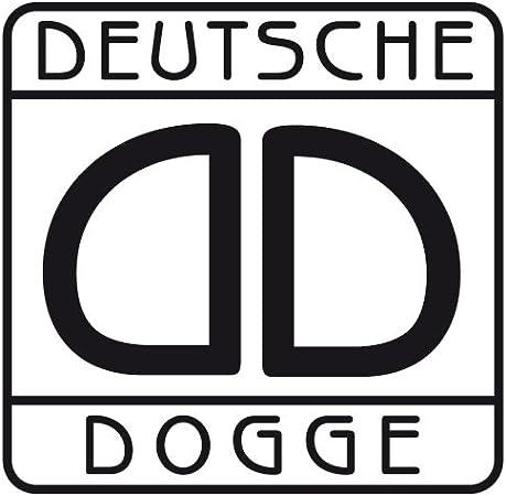 Aufkleber Deutsche Dogge Für Auto Motorrad Anhänger Schilder Fenster Größe 7x7 Cm In Königsblau Auto