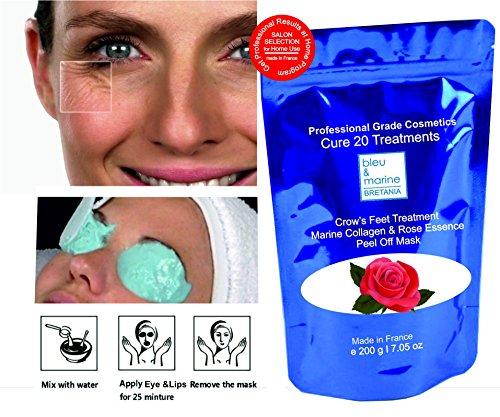 Pack 20 Trat. Mascarillas Contorno de Ojos Anti Patas de Gallo - peel off 200 g en polvo