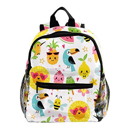 Lindo verano dibujos animados mochilas para la escuela lindas bolsas de libros para niños niño adolescente moda mochila viaje portátil bolsa