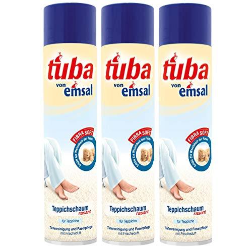 3x emsal tuba Teppichschaum rasant 600 ml - Tiefenreinigung und Faserpflege