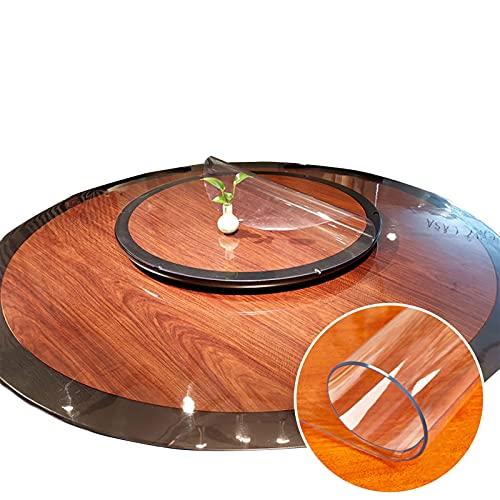 DTDMY Mantel Redondo para Bodas/Banquetes/Restaurante/Fiestas, Protector de Mantel de Vinilo Transparente como el Cristal Paño para la Cubierta de la Mesa Redonda (Size : Diameter 120cm)