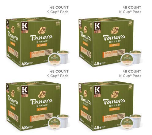 Panera Hazelnut Crème Coffee, Keurig K-Cup Coffee Pods, Flavored, 48 Count (Pack of 3)