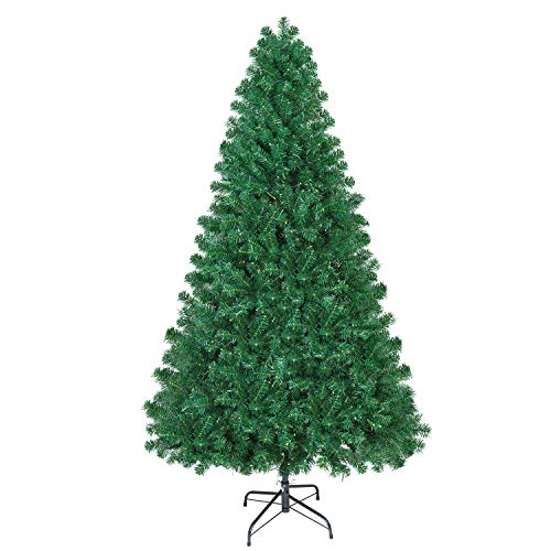 Shareconn Premium Künstlicher Weihnachtsbaum mit Stabilem Ständer mit 1602 Spitzen, Tannenbaum mit Schnellaufbau Klappsystem inkl. Metall Christbaum Ständer, 7.5ft