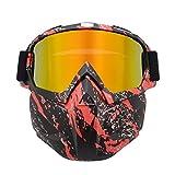 MAOS UV400 Gafas Retro de la Motocicleta con la máscara extraíble, Máscara Gafas de Seguridad for Nerf N-Strike Elite Pistola de Juguete Juego (Color : Type#C)