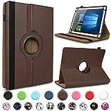 UC-Express Tablet Hülle kompatibel für Telekom Puls Tasche Schutzhülle Case Schutz Cover 360° Drehbar, Farben:Braun