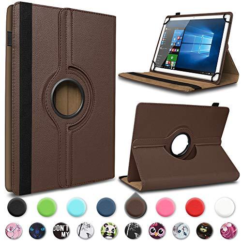 UC-Express Tablet Hülle Smartbook S7Q Tasche Schutzhülle Case Schutz Cover 360° Drehbar Bag, Farbe:Braun