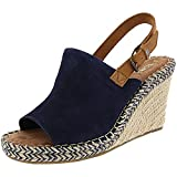 TOMS Monica Navy Suede/Leather 7.5