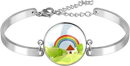 Verstelbare armband unieke Rainbow voor vrouwen Roestvrij staal