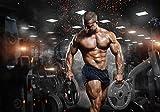 wandmotiv24 Fototapete Bodybuilder Feuer-Effekt Fitness M 250 x 175 cm - 5 Teile Fototapeten,...