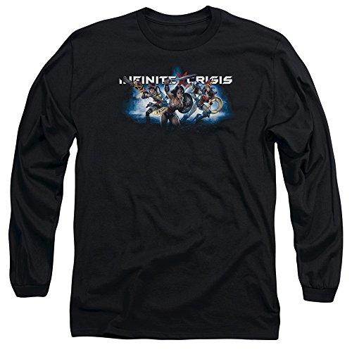 Crise Infinie - Ic Bleu manches longues Homme T-shirt, XX-Large, Black