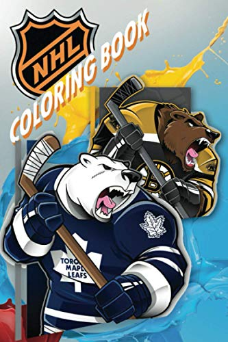 NHL Coloring Book: Hockey Club Mascots For Kids