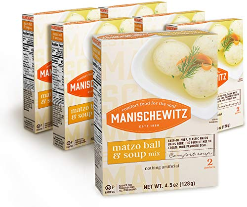 Manischewitz Matzo Ball and Soup Mix, 4.5oz Box (Pack of 6, Total of 27 Oz)