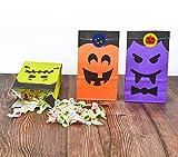 Cymax 50 Stück Halloween Geschenktüten mit Aufkleber,Halloween Partytüten Candy Papier für Halloween Supplies,Geburtstag,Party - 4