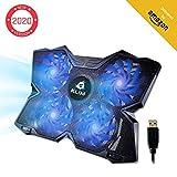 KLIM Wind - Base di Raffreddamento PC Portatile + Il più Potente Supporto PC Portatile + Azione Rapida 1200 RPM + Gaming Laptop Stand + Blu + Nuova Versione 2019