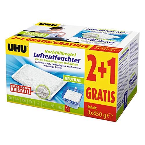 3x UHU 47135 Luftentfeuchter Nachfüllbeutel 450g Promopack 2 plus 1