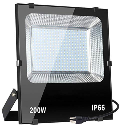 CHENJIA Luces LED for Exteriores con Sensor de Movimiento de Seguridad, Luz de Movimiento con Seguridad LED D2D de 18W, Blanco