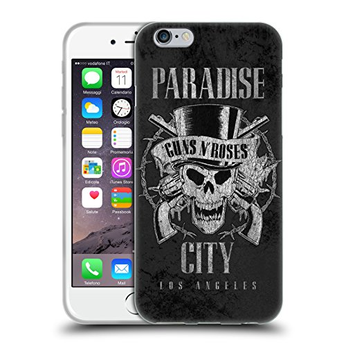 Head Case Designs Licenza Ufficiale Guns N' Roses Paradise City Vintage Cover in Morbido Gel Compatibile con Apple iPhone 6 / iPhone 6s
