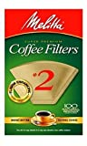 Melitta 622752 100CT #2 BRN Filter, 2 Pack, 2, Natural Brown