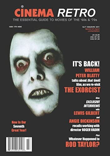 Cinema Retro Issue #19 the Exorcist Dickinson Rod Taylor safety Angie Free shipping W