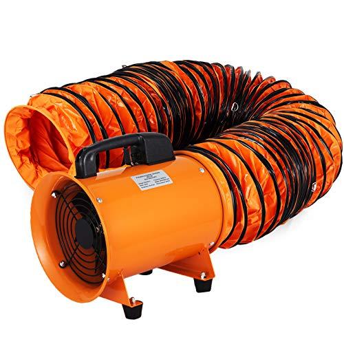 Husuper Ventilador Industrial 200mm, Extractor Aire Industrial de PVC Conducto 5m Ventilador de Admisión Extractor de Aire 220V Ventilador Portátil 230W Tubo Extractor Entrega de Aire 1500 m³/h