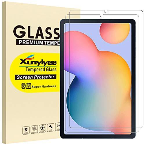 XunyLyee [2 Piezas] Protector de Pantalla Compatible Con Samsung Galaxy Tab S6 Lite, Cristal Templado Film para Galaxy Tab S6 Lite 10,4' SM-P610/SM-P615
