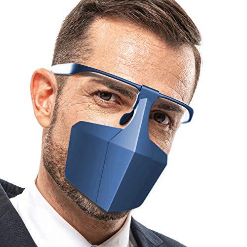 Protezione per Il Viso Antipolvere per Esterni, Protezione di Moda, Sicura e Confortevole (Blu)