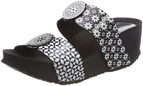Desigual Damen Shoes_Cycle Alhambra Plateausandalen, Schwarz (2000 Negro), 39 EU