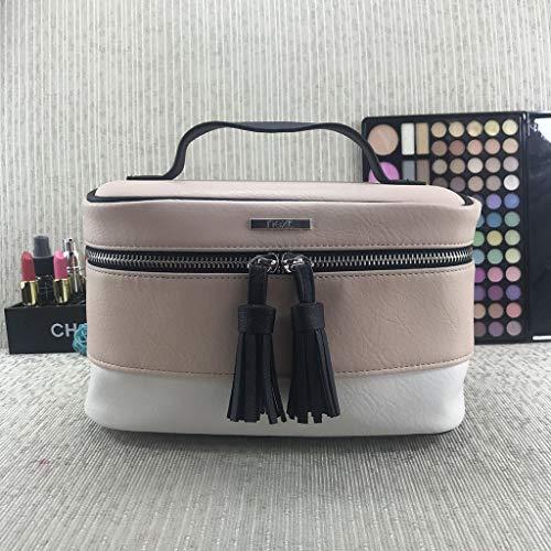 Syqs Draagbare, draagbare make-uptasje, multifunctionele make-uptas met grote capaciteit, eenvoudige opbergtas, geschikt voor thuis