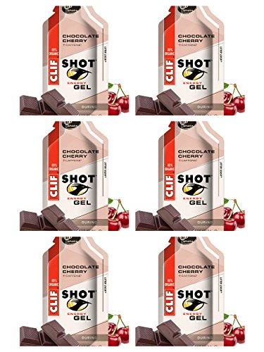 Clif Shot Energy Gel with Caffeine Chocolate Cherry Pack of 6