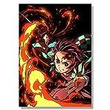Aishangjia Anime japonés Demon Slayer Blade Pintura en Lienzo Serie de...