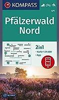 KOMPASS Wanderkarte Pfaelzerwald Nord 1:25 000: 2in1 Wanderkarte 1:25000 inklusive Karte zur offline Verwendung in der KOMPASS-App. Fahrradfahren. Reiten.