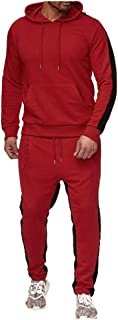 Mens Tracksuit Set Sports Gym Training Suits Sportswear Sets Warm Up Tracksuit Sports Set with Pocket