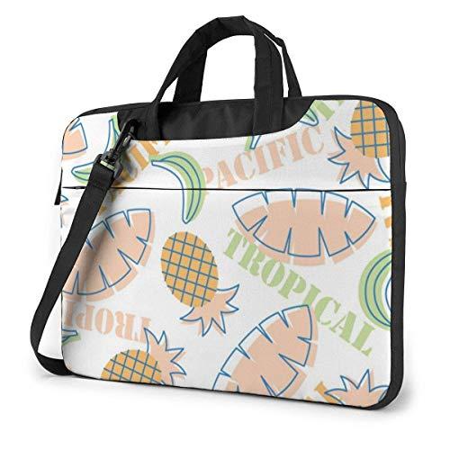 Tropical Plants Pineapple Funnny (55) 15.6 in Laptop Bag Anti-Collision Notebook Computer Protective Cover Handbag Shoulder Bag
