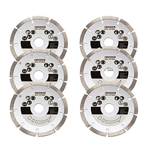 Diamanttrennscheibe, Trennscheibe, 6er Set, für Parkside Mauernutfräse Fräse 1350 C3 - LIDL IAN 291805