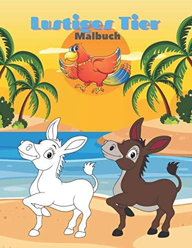 Lustiges Tier - Malbuch: 100 Malvorlagen für Kinder
