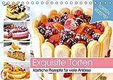 Exquisite Torten. Köstliche Rezepte für viele Anlässe (Tischkalender 2021 DIN A5 quer)