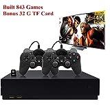 YLM Consola de Juegos Retro Consolas de Juegos Portátiles con 2Pcs Joystick Reproductor de Juegos Familiares con más de 800 Juegos (Negro)