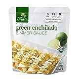 Simply Organic Green Enchilada Simmer Sauce, Certified Organic   8 oz   Pack of 6