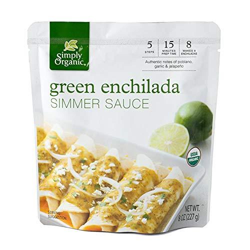Simply Organic Green Enchilada Simmer Sauce, Certified Organic | 8 oz | Pack of 6