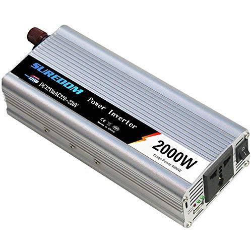 1000 W Power Inverter DC 24 V naar AC 110 V / 220 V converter voor auto met stopcontact Universal AC stroom en USB-poort inclusief sigarettenaansteker stekker en batterij pins, 220 V