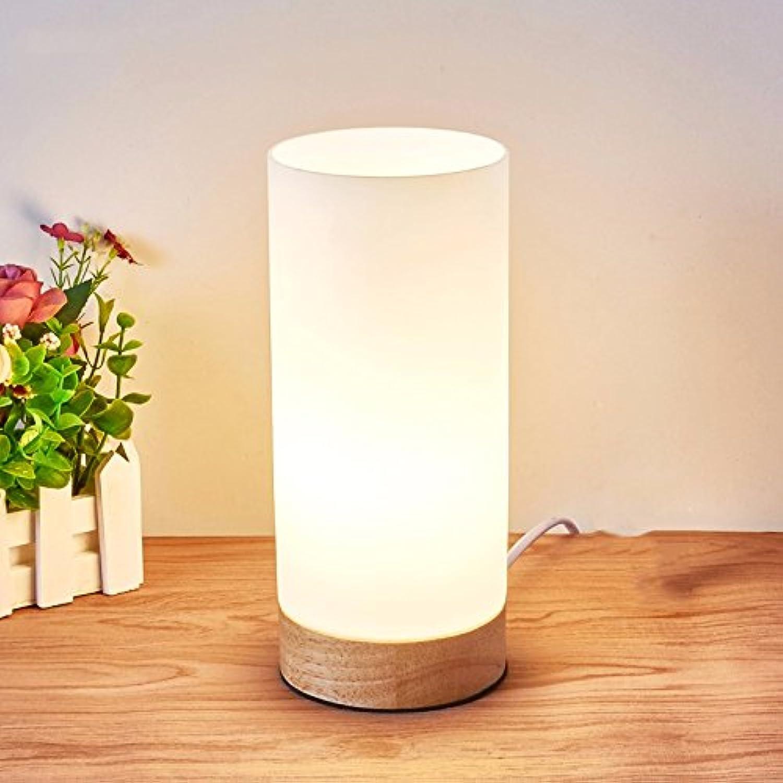 Einfache Schlafzimmer Nachttischlampe, Holz LED Augenschutz Leselampe, 12-W-LED, 45 B074FVS8KR | Elegant und feierlich