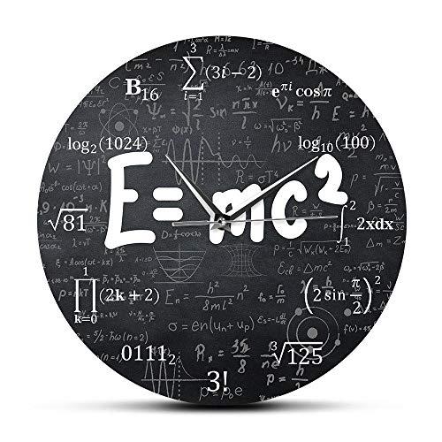 Dafang Albert Einstein E = mc2 Relatività Formula Matematica Freak Orologio da Parete Scienziato Fisica Insegnante Regalo Scuola Decorazione dell'aula
