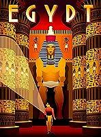 ERZAN知育玩具200ピースパズルエジプトエジプトレトロ旅行壁ホーム装飾芸術家の装飾